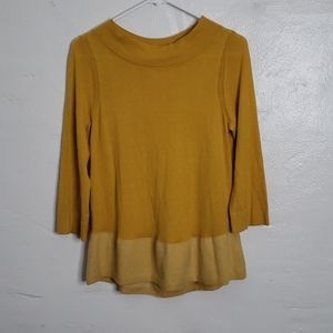 Angel Of The North Mustard Yellow Sweater
